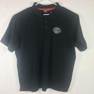 Harley Davidson Motorcycles Polo Shirt 3XL Black